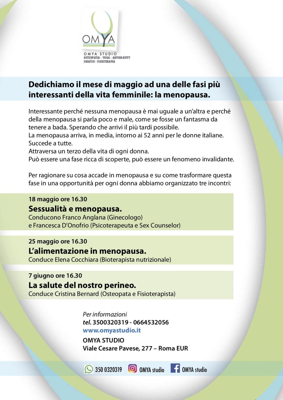 Calendario Menopausa.Mese Di Maggio Dedicato Alla Menopausa Omya Studio